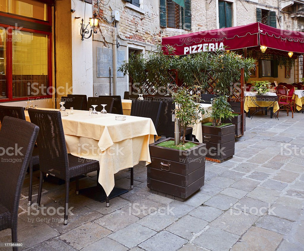 Italian Pizzeria stock photo