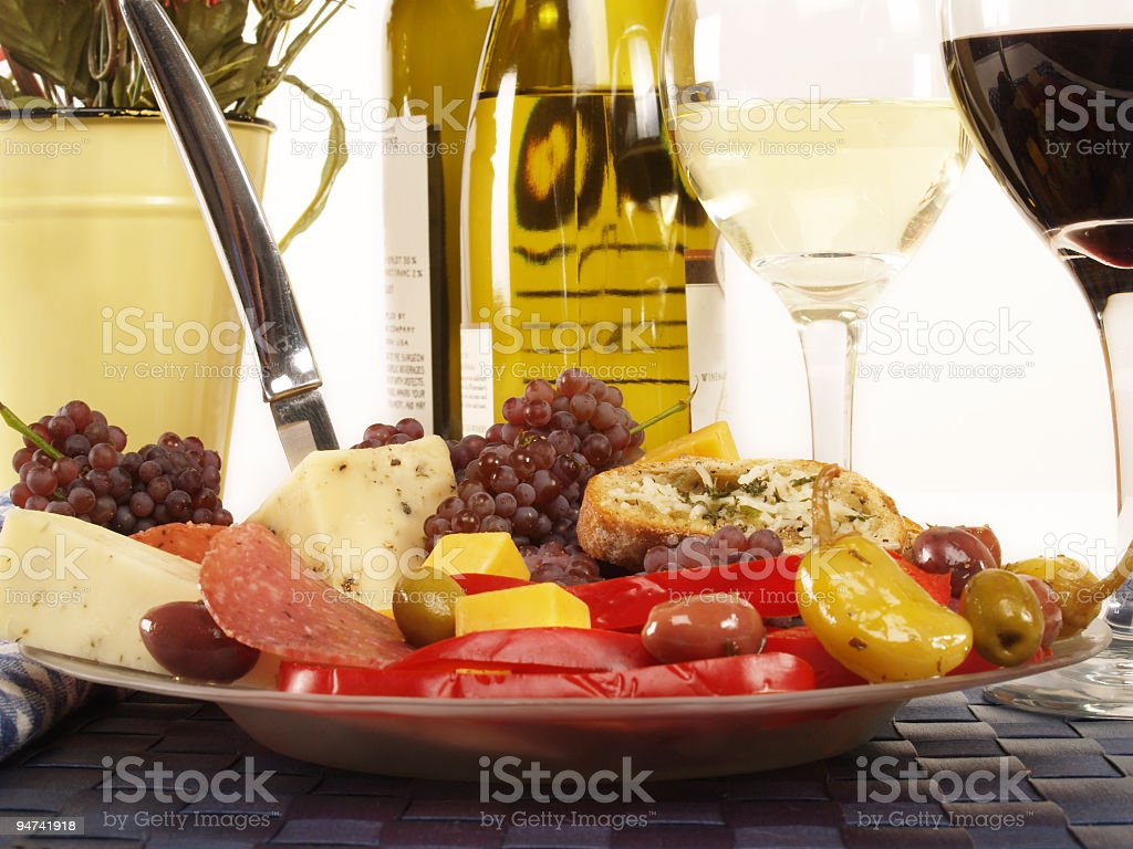 Italian Plate for Two royalty-free stock photo