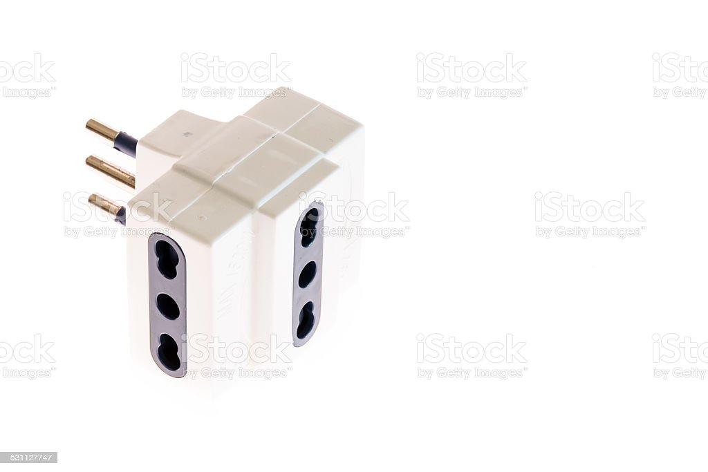 Italian plug stock photo