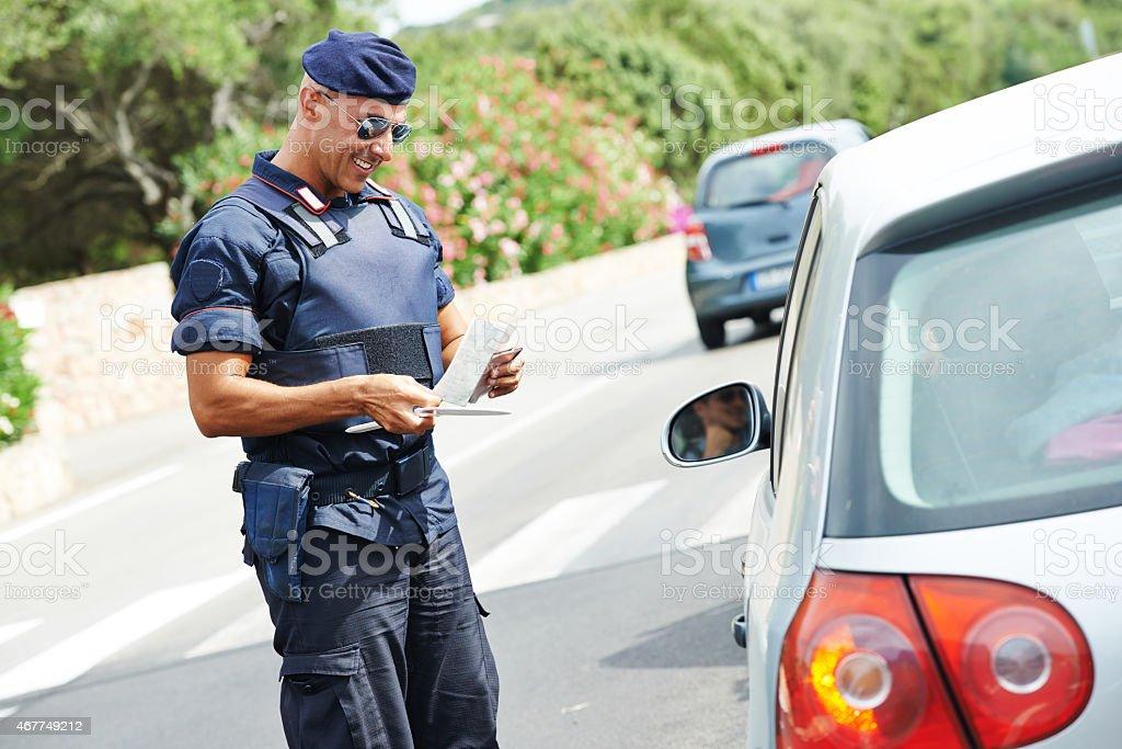 Italian policeman carabinier stock photo