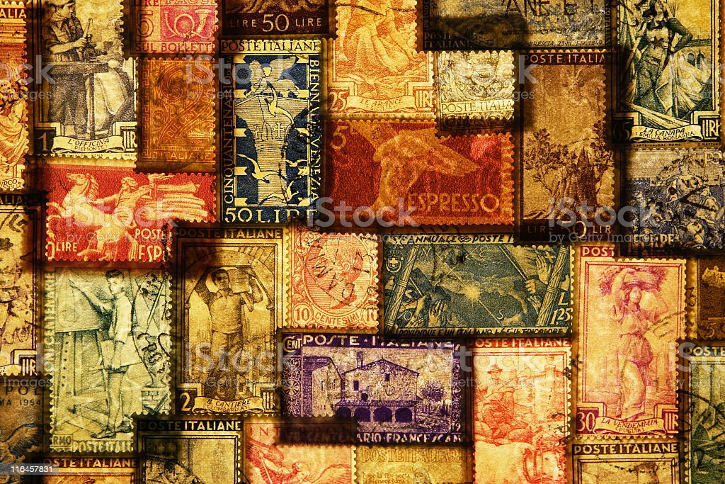 Italian Postage Stamp Mail royalty-free stock photo