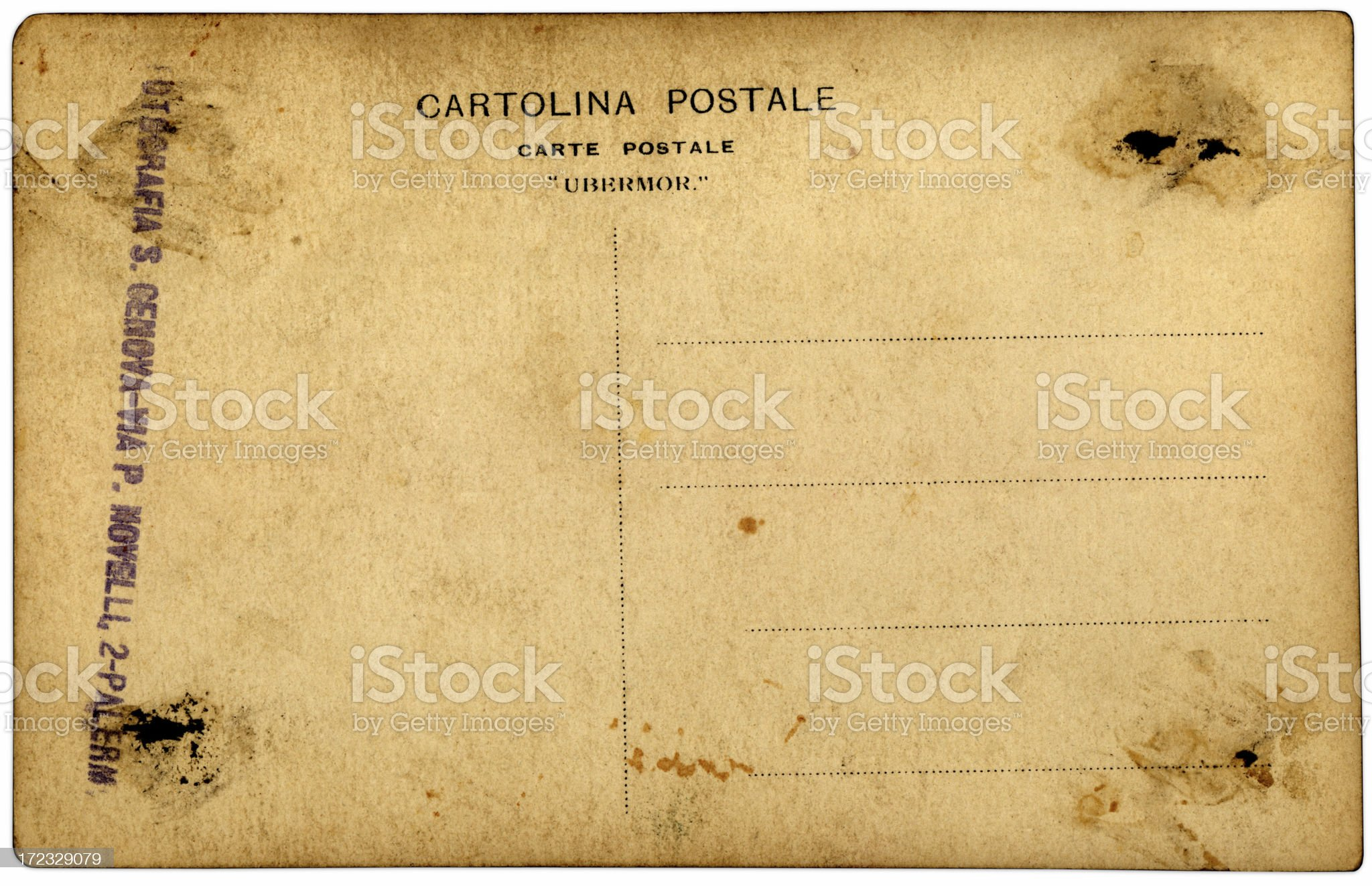 italian postcard royalty-free stock photo