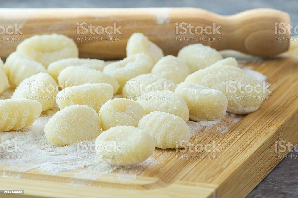 Italian Potato gnocchi stock photo