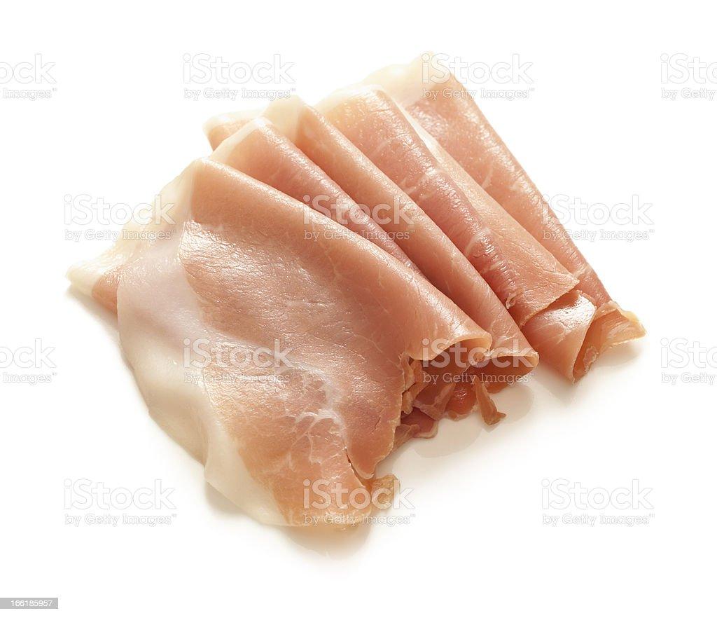 Italian Prosciutto or Ham royalty-free stock photo
