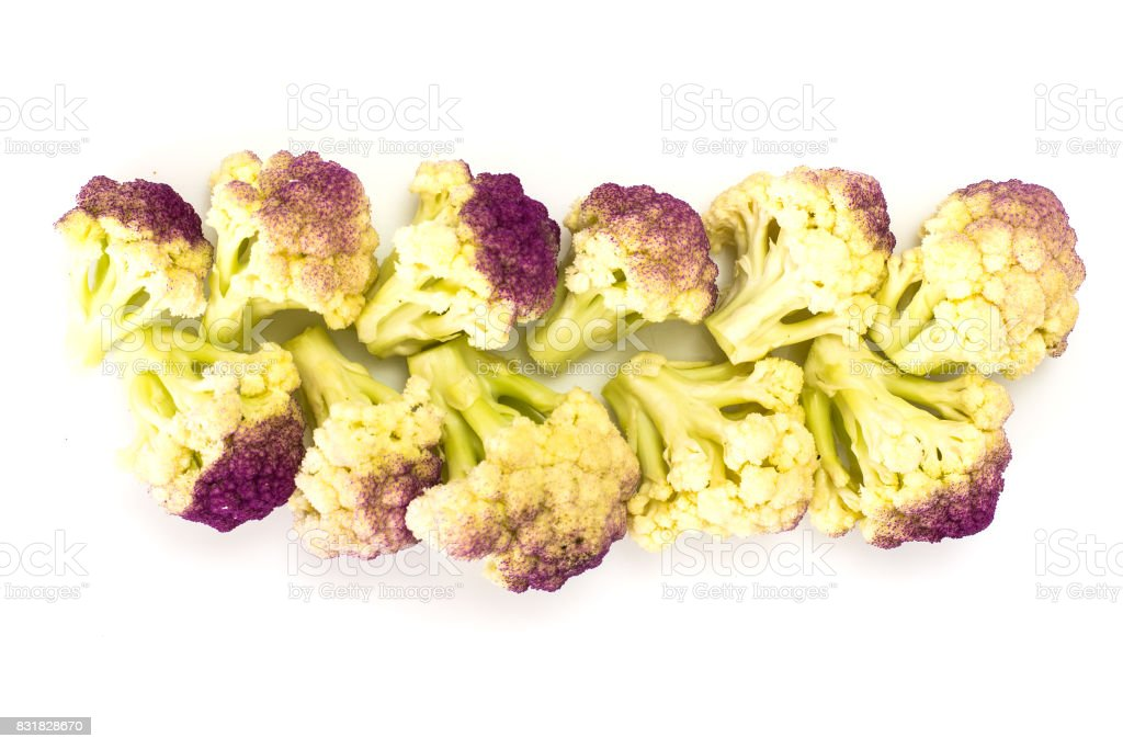 Italian purple cauliflower stock photo