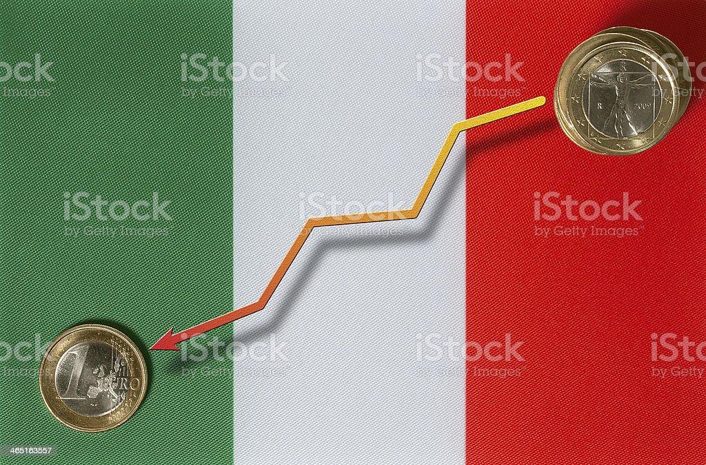 Italian recession royalty-free stock photo