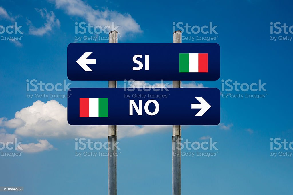 italian referendum stock photo
