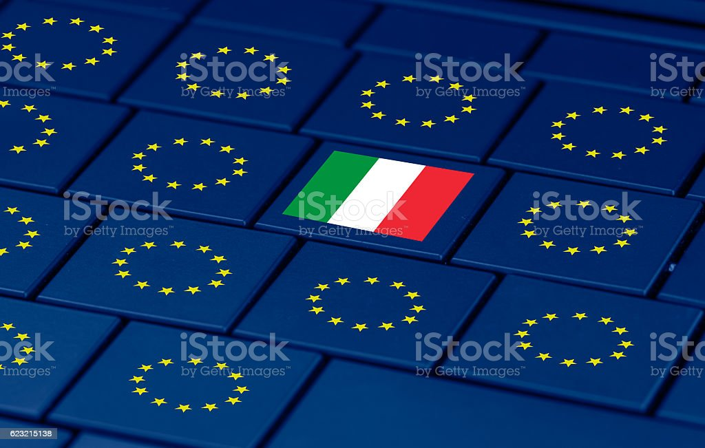 italian referendum yes (SI) or no (NO) stock photo