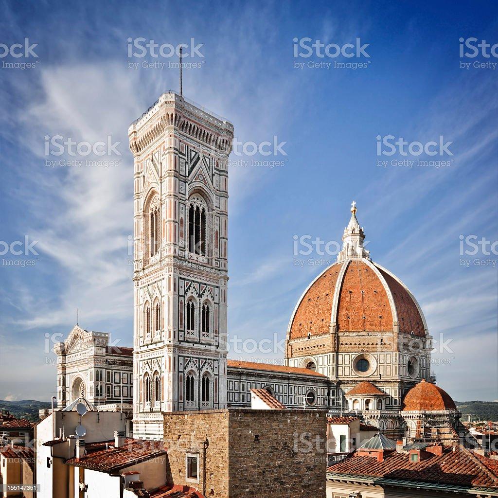 Italian renaissance architecture example in Duomo di Firenze stock photo