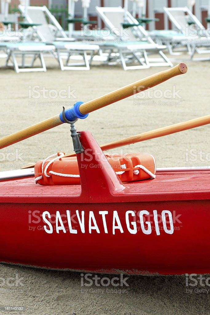 Italian Rescue Boat royalty-free stock photo