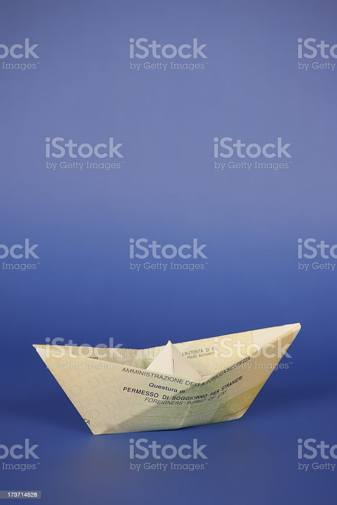 Italian residence permit for foreigners royalty-free stock photo