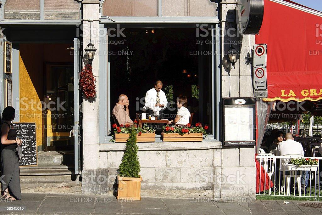 Italian restaurant in Montreal royalty-free stock photo