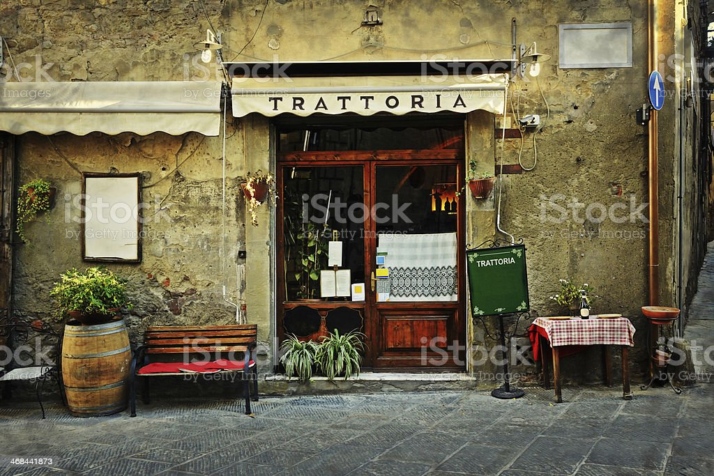 italian restaurant stock photo