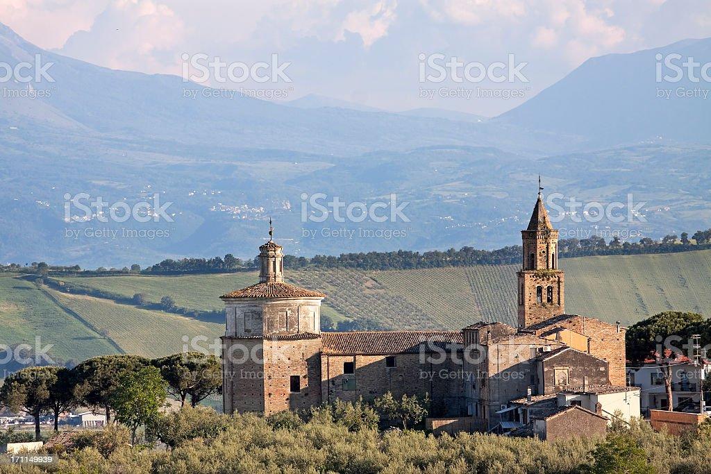 Italian romanesque church royalty-free stock photo