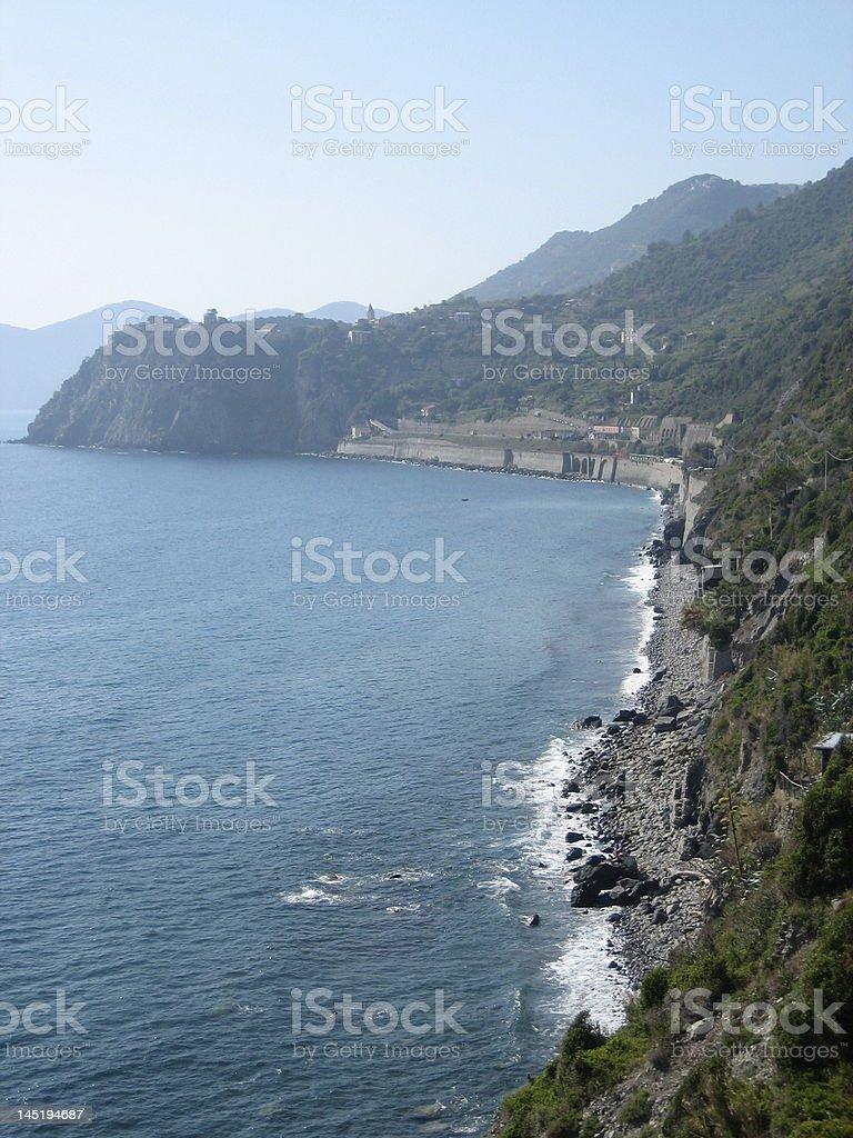 Italian rugged coastline royalty-free stock photo