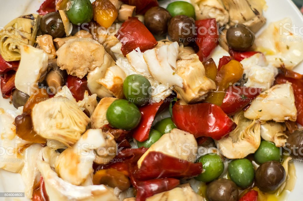 Italian salad stock photo