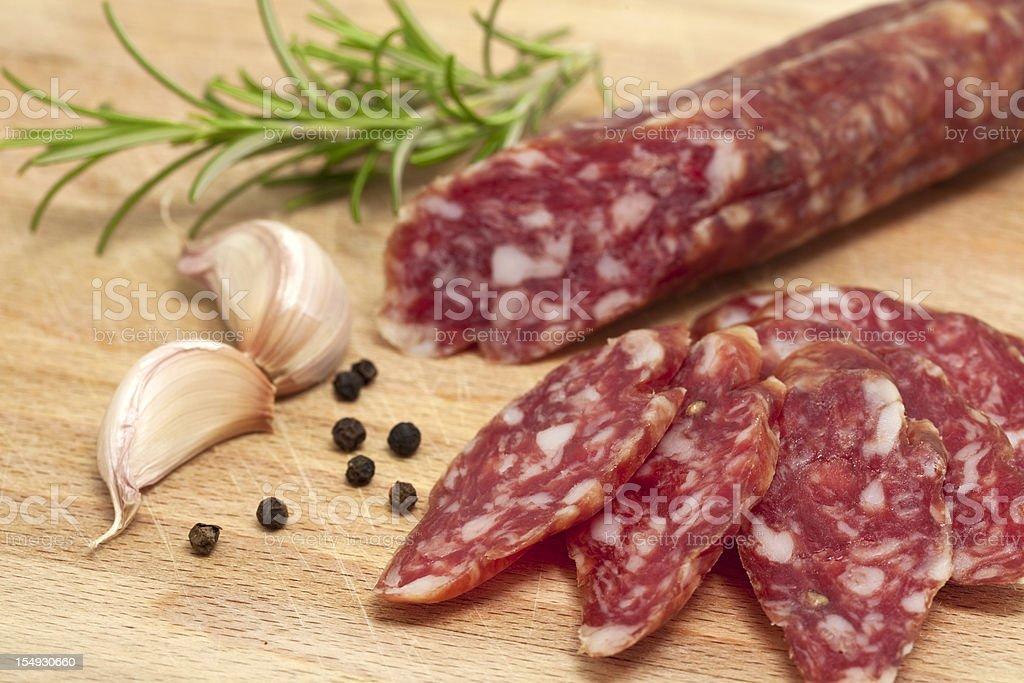 italian salami royalty-free stock photo