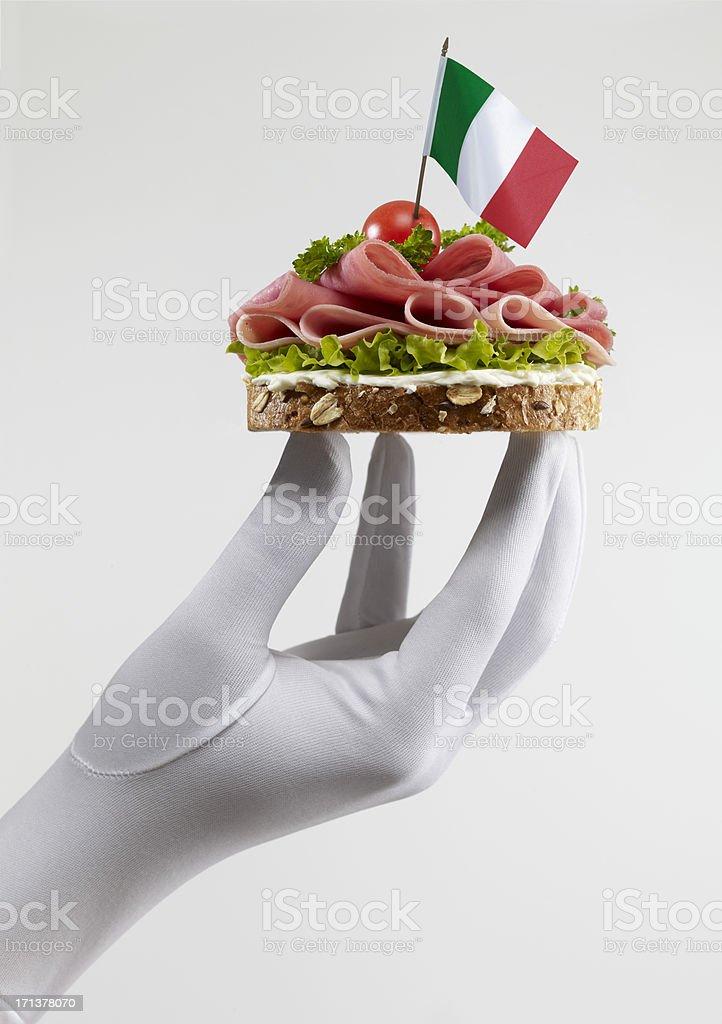 Italian Salami Sandwich royalty-free stock photo