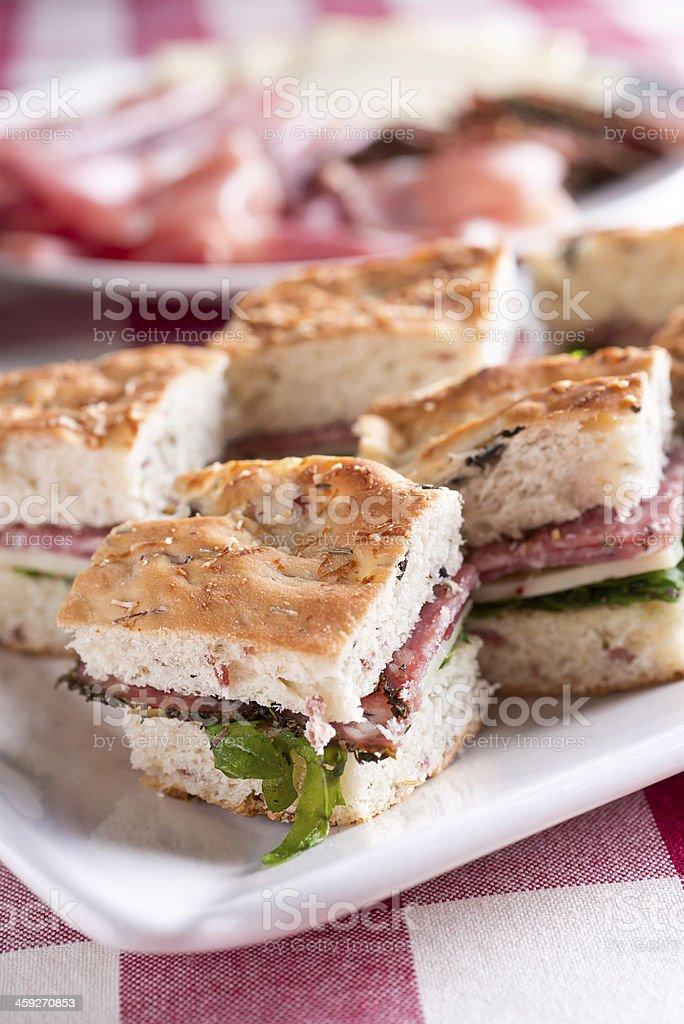 Italian Sandwich Appetizer royalty-free stock photo