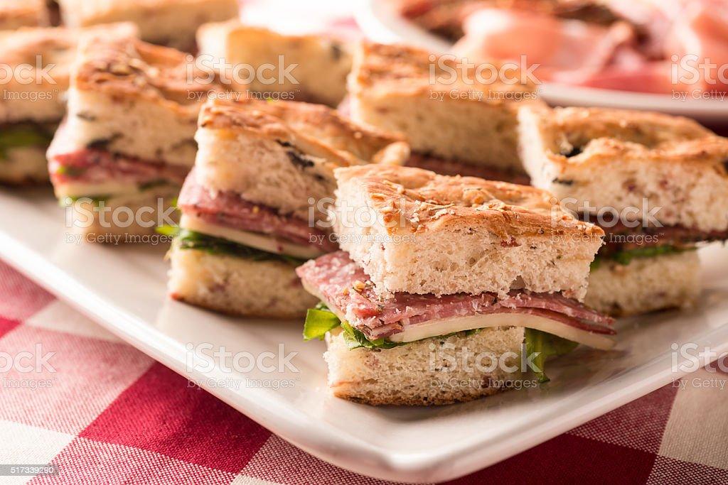 Italian Sandwich Appetizer stock photo