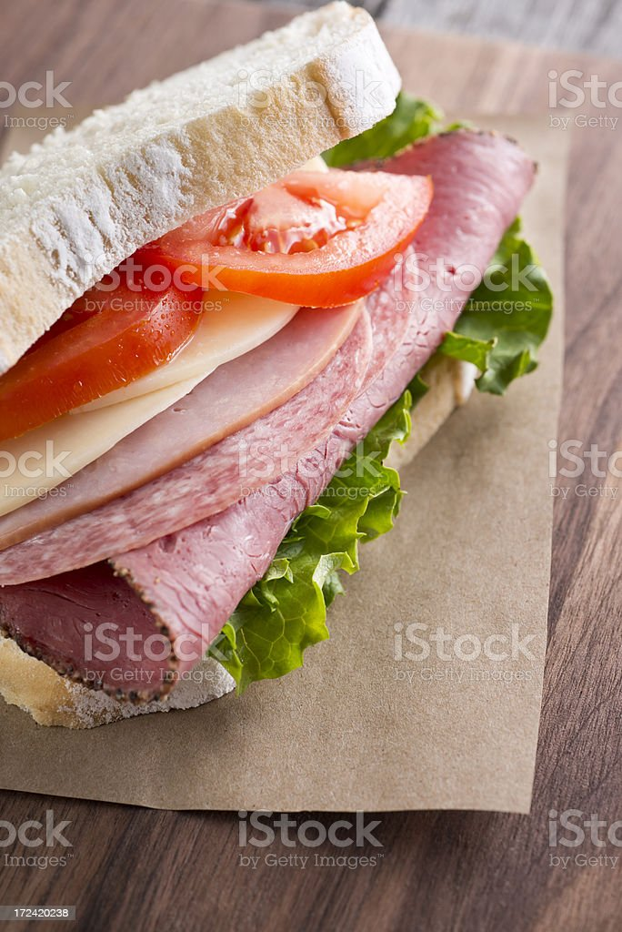 Italian Sandwich royalty-free stock photo