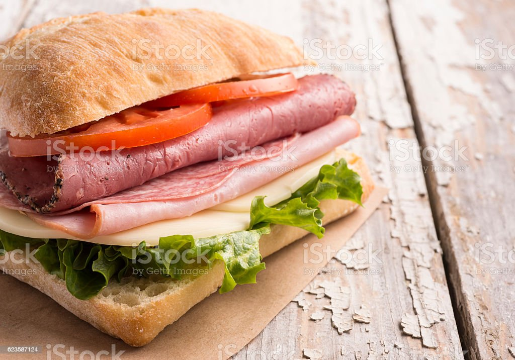 Italian Sandwich stock photo