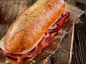 Italian Sandwich with Salami,Genoa, Prosciutto and Provolone