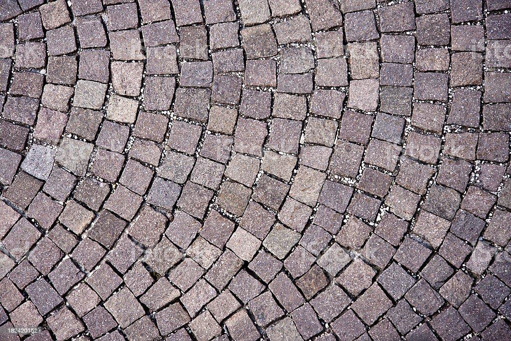 Italian Sanpietrini Cobblestone Floor, Architectural Texture Background royalty-free stock photo