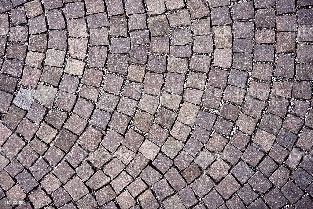 Italian Sanpietrini Cobblestone Floor, Architectural Texture Background stock photo