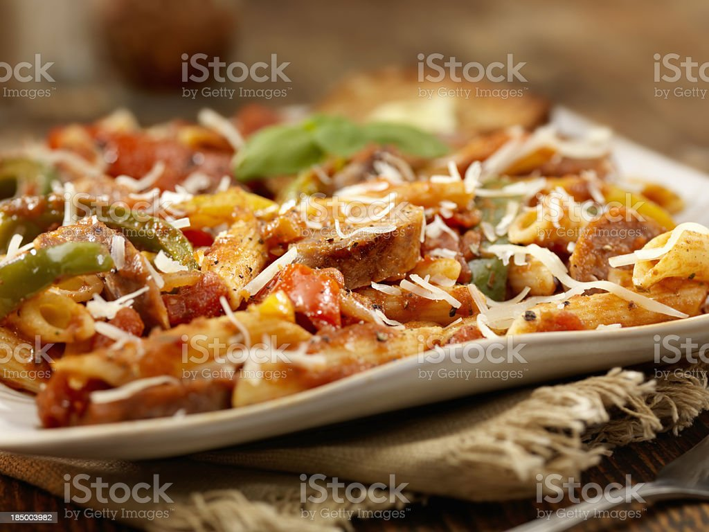Italian Sausage and Pepper Penne royalty-free stock photo