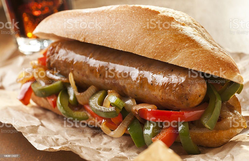 Italian Sausage stock photo