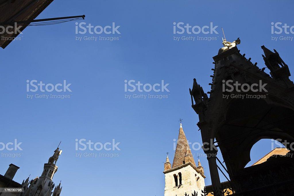 Italian, Scaliger tombs royalty-free stock photo
