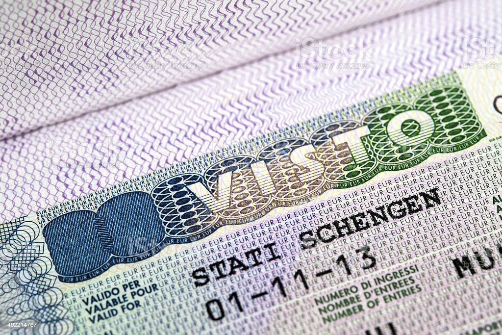 italian schengen visa for european countries stock photo