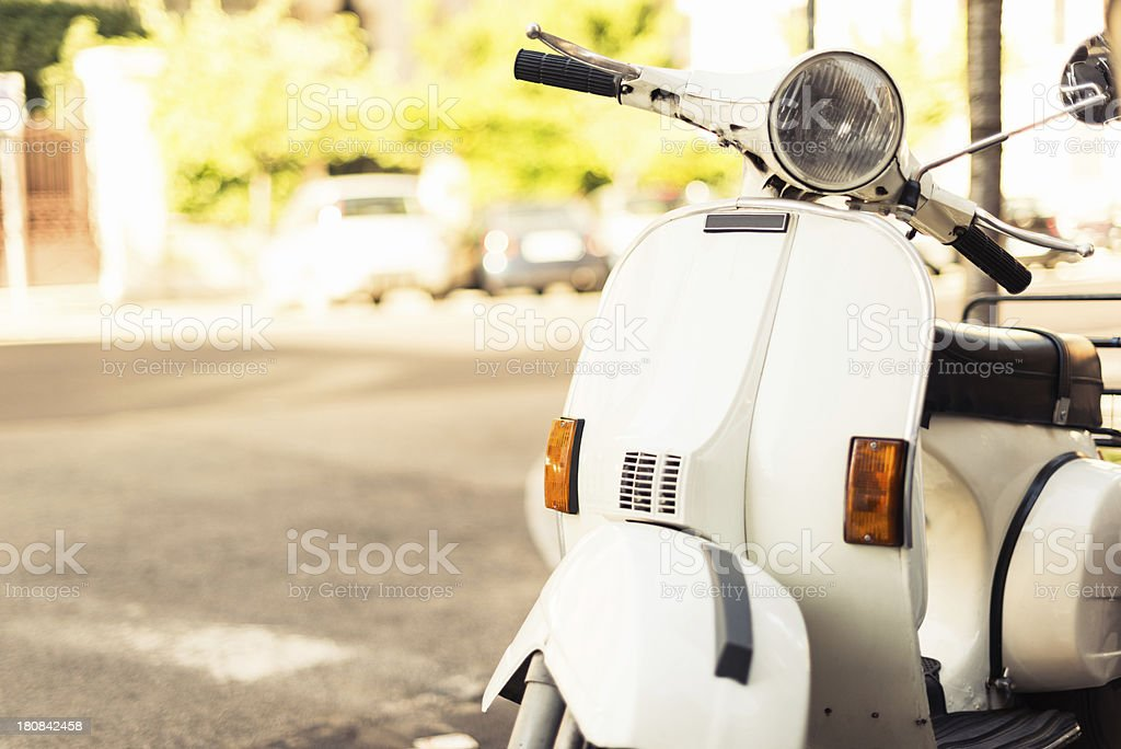 italian scooter parked in rome royalty-free stock photo
