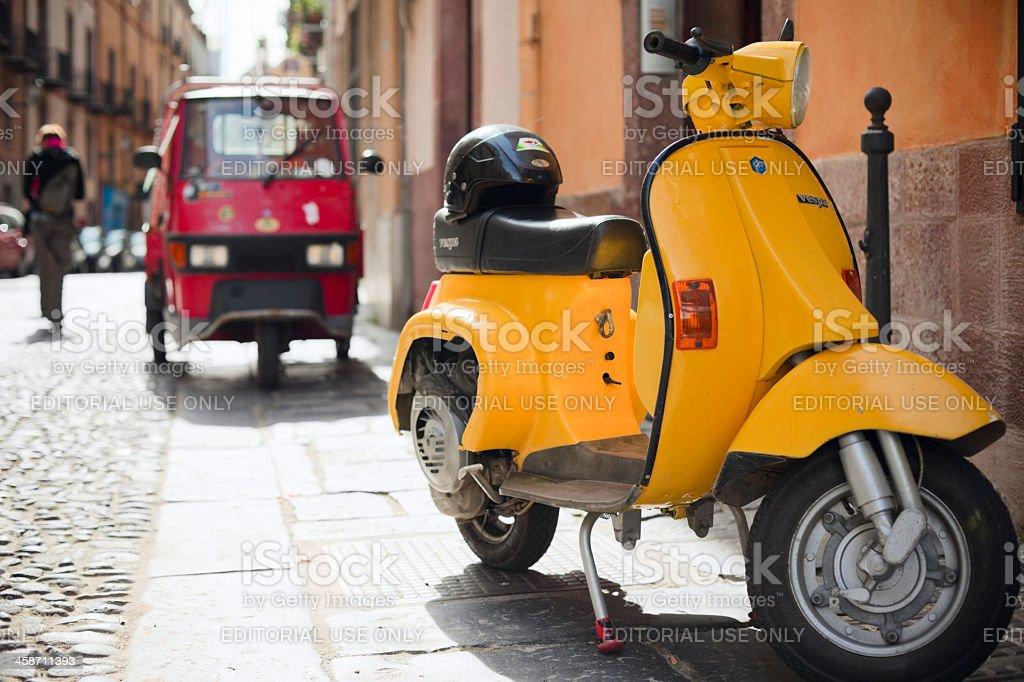 Italian scooters stock photo