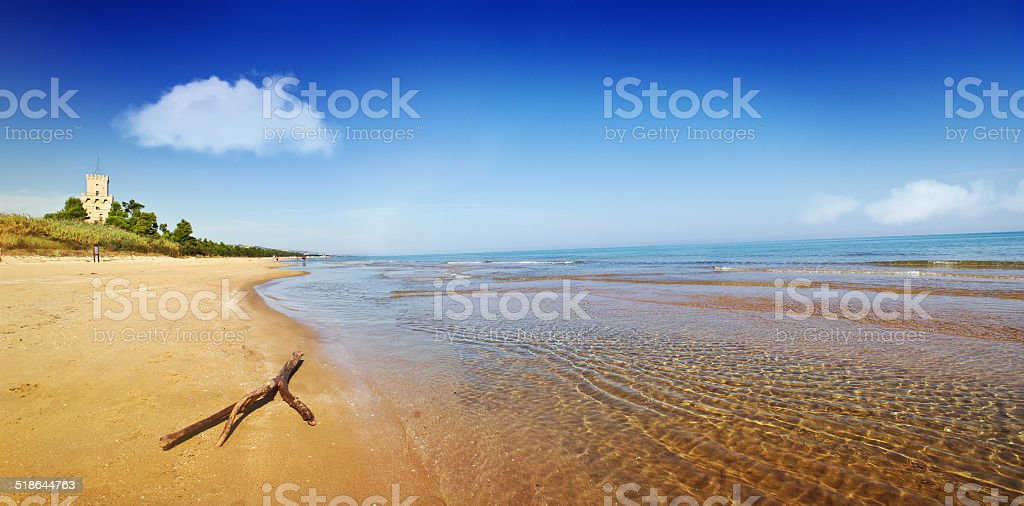 Italian sea stock photo