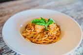 Italian seafood spaghetti