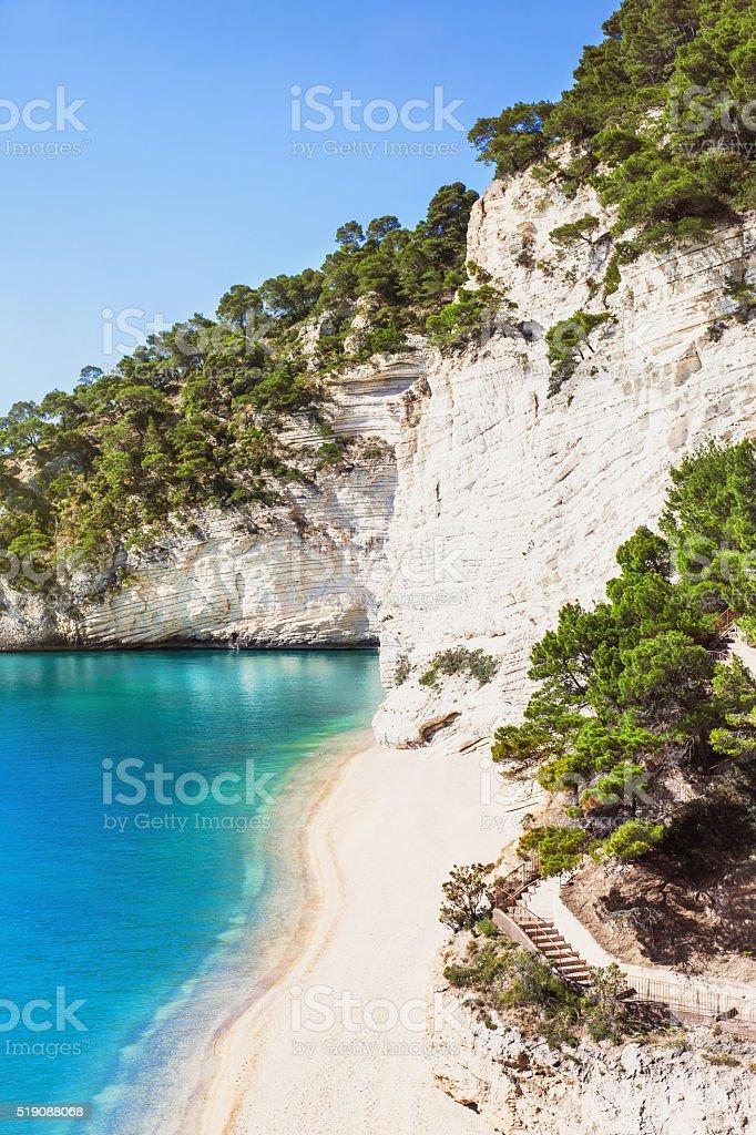 Italian seashore stock photo