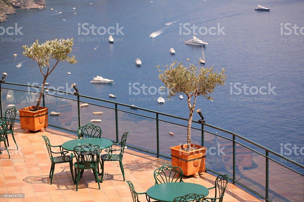 Italian seaside landscape stock photo