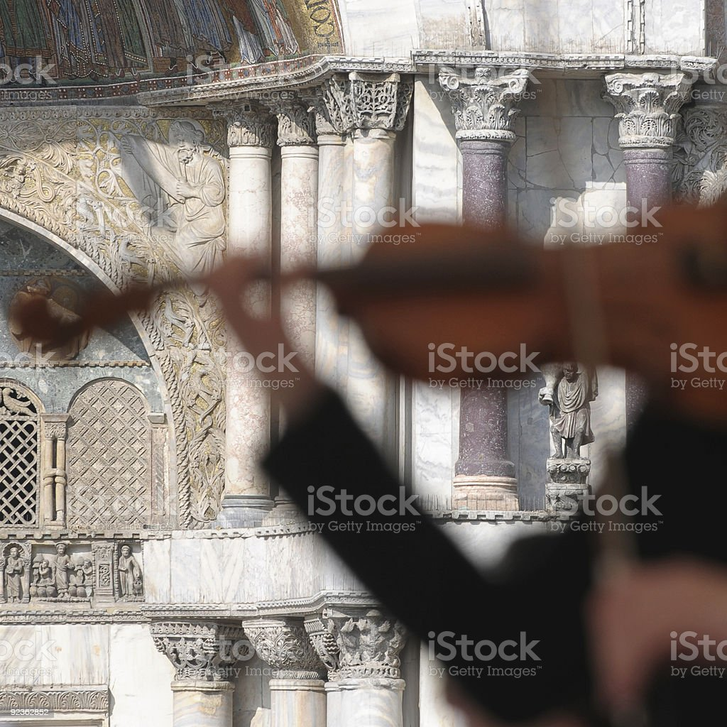 Italian serenade stock photo