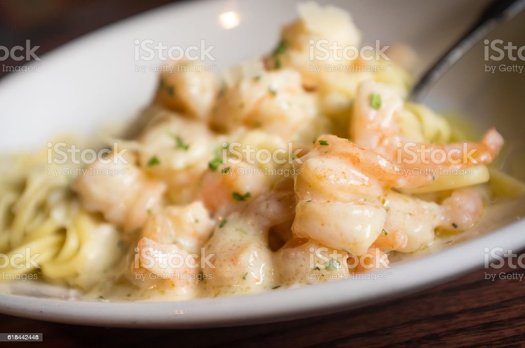 Italian Shrimp Scampi stock photo