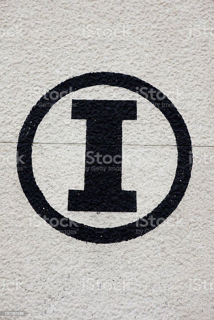 Italian Sign, Signs in Italy royalty-free stock photo