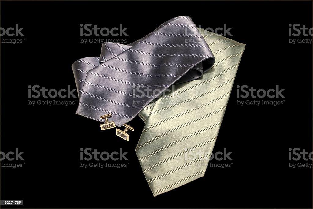Italian silk ties stock photo