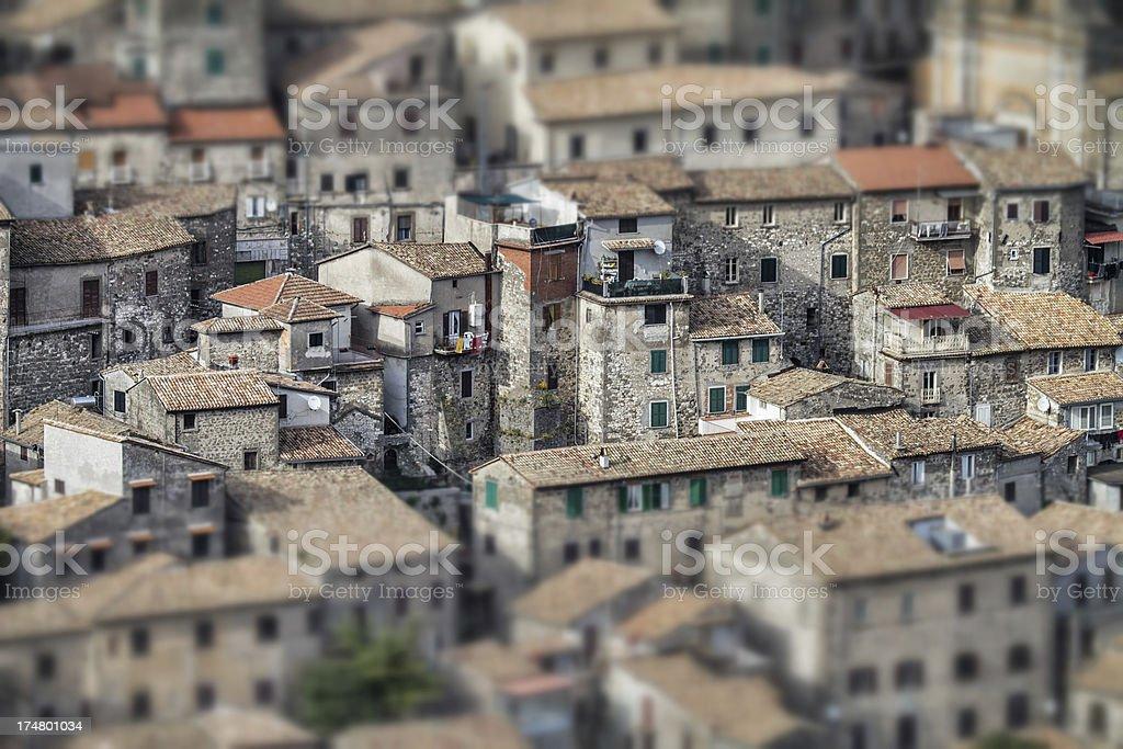 Italian Small Town in Tilt Shift stock photo