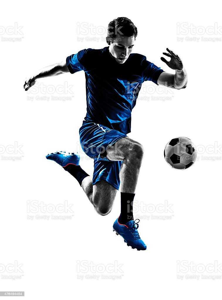 italian soccer player man silhouette stock photo