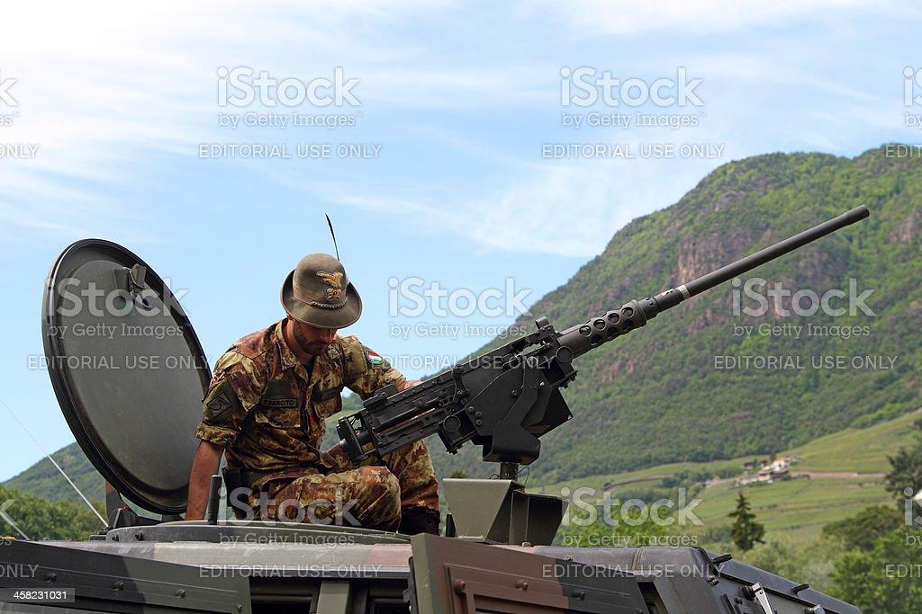 Italian solider called as 'Alpino' stock photo