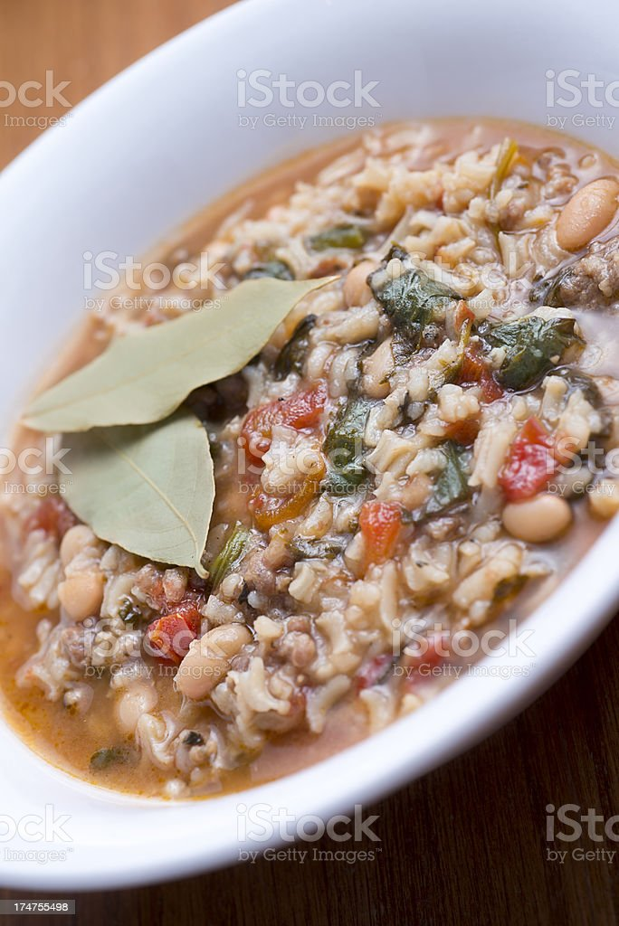 Italian Soup stock photo