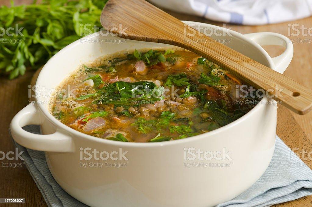 Italian soup stock photo