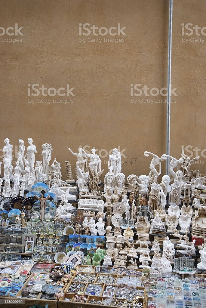 Italian Souvenir Stand with Copy Space stock photo