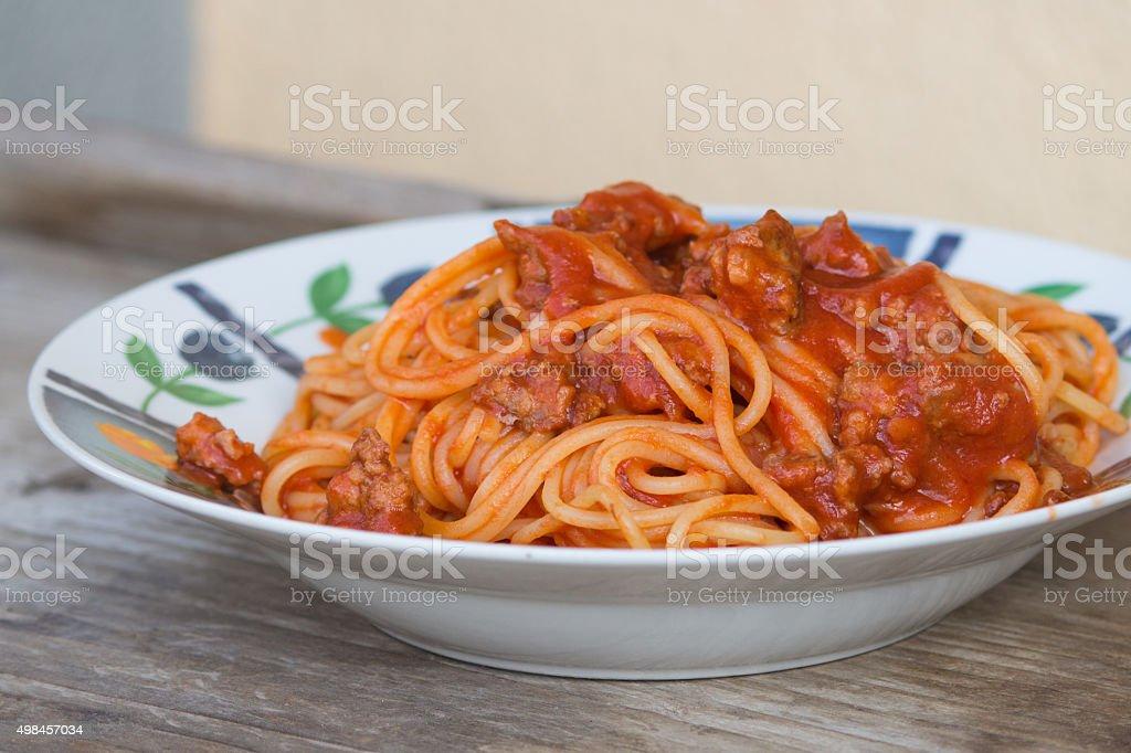 italian spaghetti stock photo
